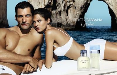 david gandy bianca balti dolce gabbana light blue campaign