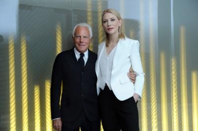 Giorgio Armani and Cate Blanchett