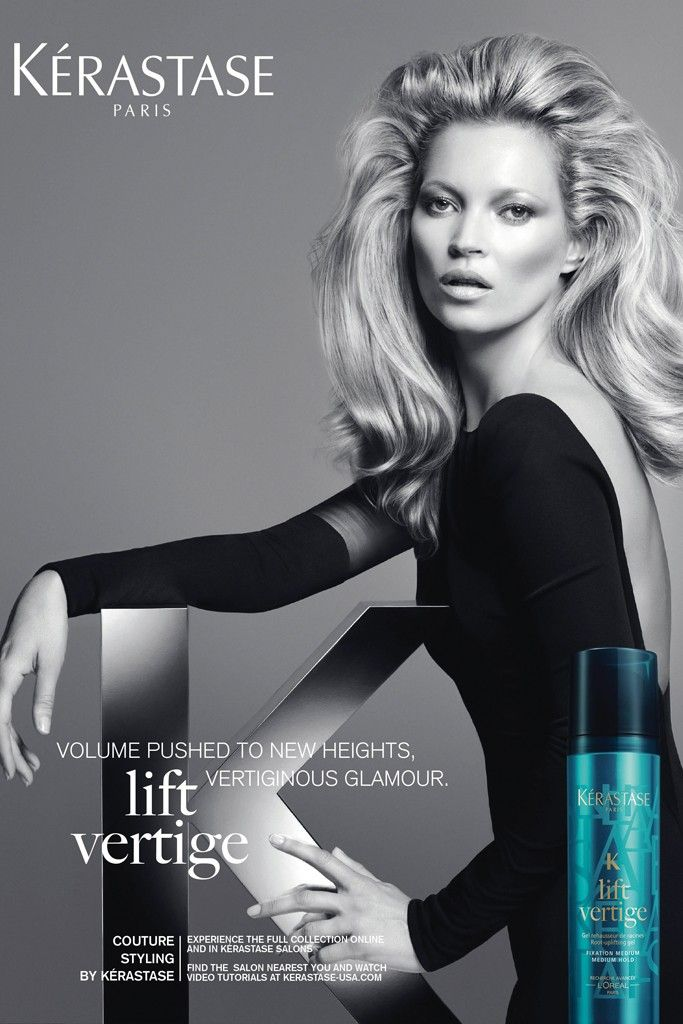 Kate Moss Kerastase Couture Styling Campaign