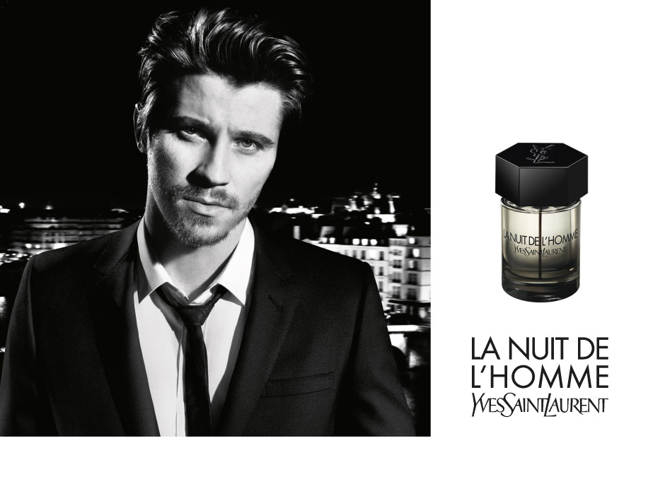 garrett hedlund for yves saint laurent la nuit de l 39 homme. Black Bedroom Furniture Sets. Home Design Ideas