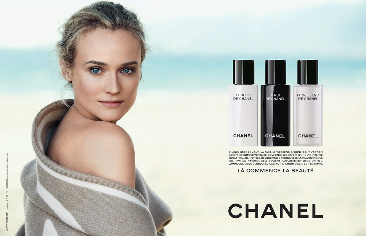 Diane Kruger for Chanel Beauty by Peter Lindbergh