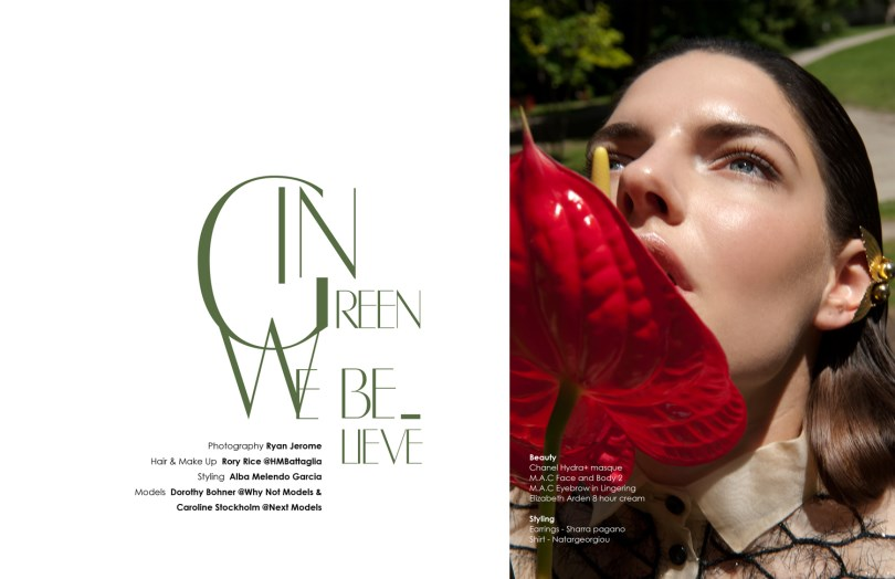 In Green We Believe by Ryan Jerome for NOU Magazine