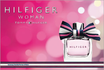 hilfiger woman cheerfully pink