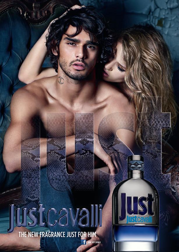 marlon teixeira just cavalli for him fragrance campaign