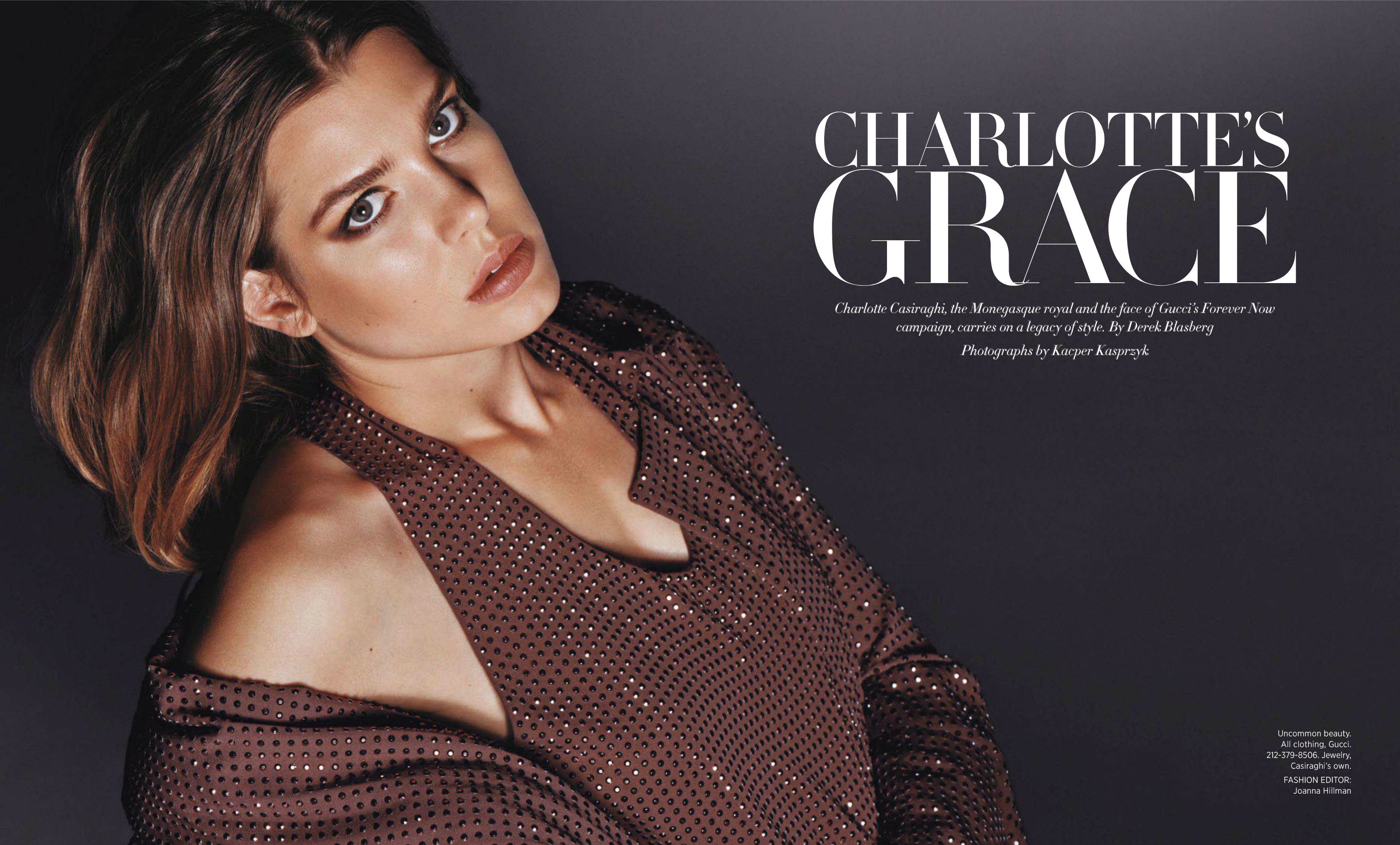 Charlotte Casiraghi by Kacper Kasprzyk for Harper's Bazaar US October 2013 (1)
