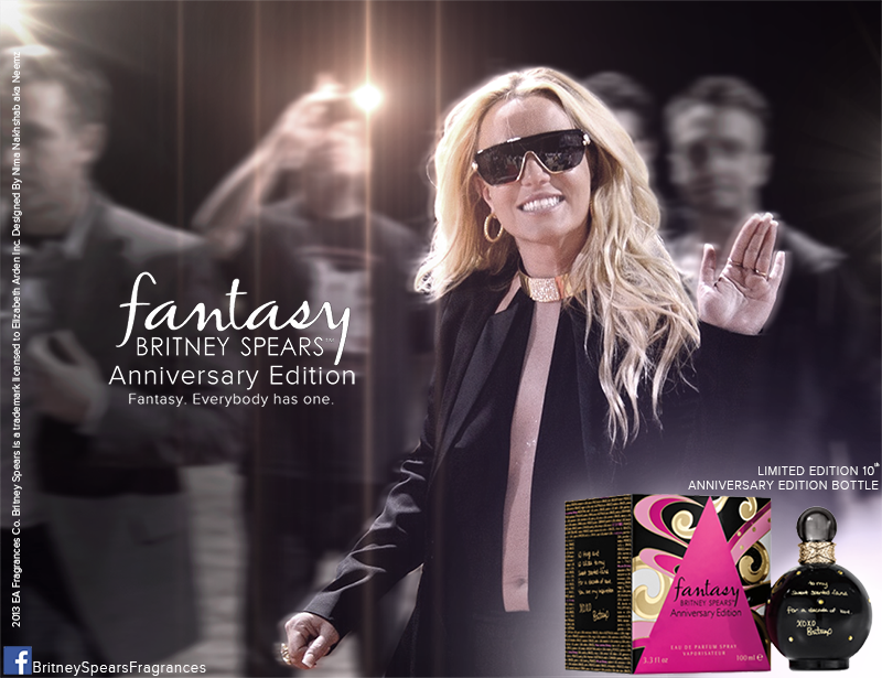 Britney Spears Unveils 10th Anniversary 'Fantasy' Fragrance