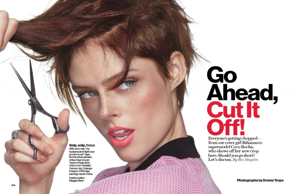 Coco Rocha by Donna Trope for Glamour November 2013