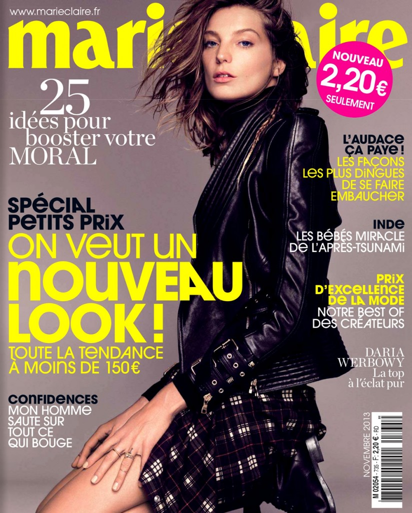 Daria Werbowy by Nico for Marie Claire France November 2013 (1)