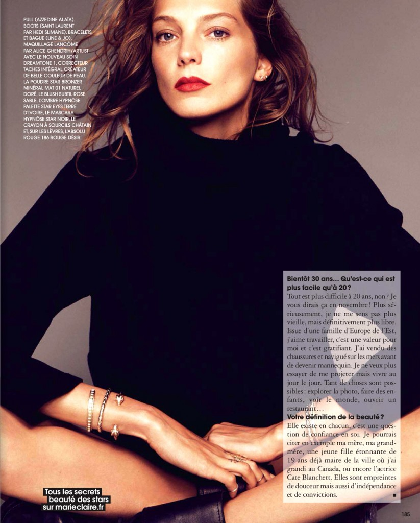 Daria Werbowy for Marie Claire France November 2013 (6)