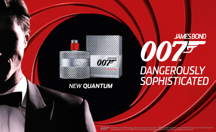 James Bond Quantum fragrance ad