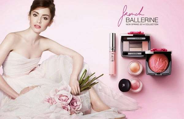 Lily-Collins-Lancome-French-Ballerine-Spring-2014-makeup-collection