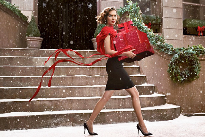 arizona muse for estee lauder christmas