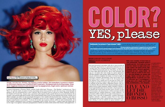 Color Yes Please by Miles Aldridge for Vogue Italia November 2013 (1)