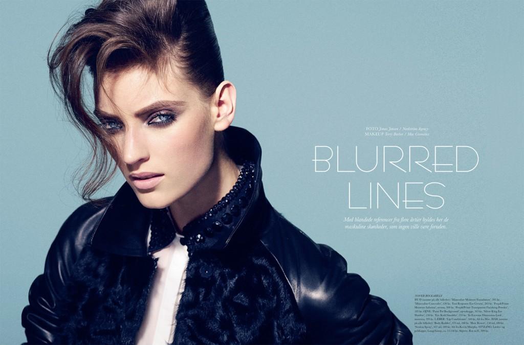 Blurred Lines by Jonas Jensen for ELLE Denmark November 2013