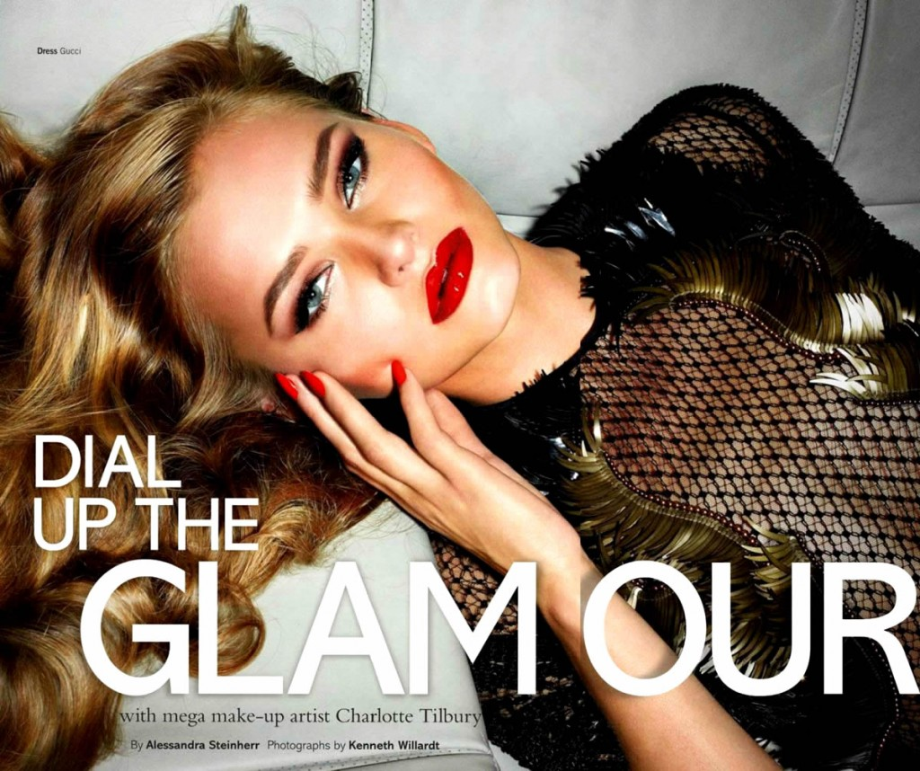 Johanna Wahlberg by Kenneth Willardt for Glamour UK December 2013