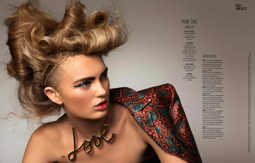 Romee Strijd by Carmen Kemmink for Elle Netherlands January 2014 (1)
