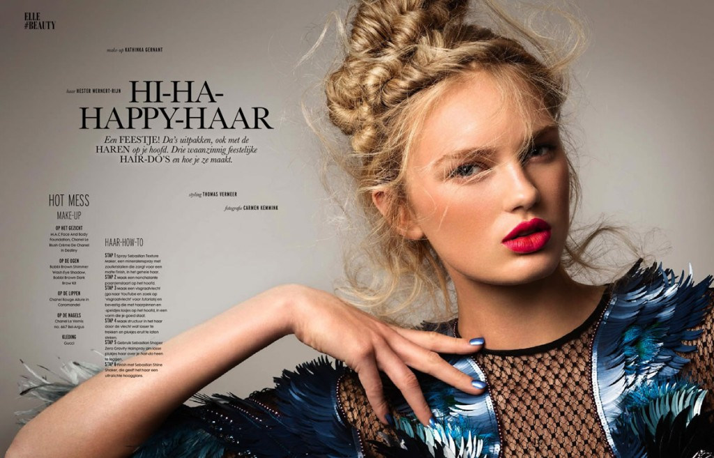 Romee Strijd by Carmen Kemmink for Elle Netherlands January 2014 (2)