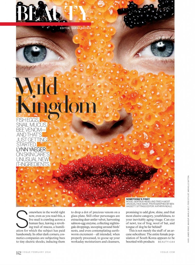 Wild Kingdom by Ben Hassett for Vogue US February 2014