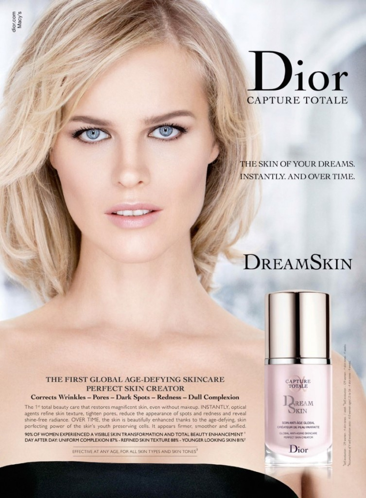 Eva Herzigova by Patrick Demarchelier for Diorskin Dream Skin Capture Totale