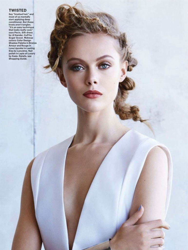 Frida Gustavsson by Patrick Demarchelier for Allure March 2014