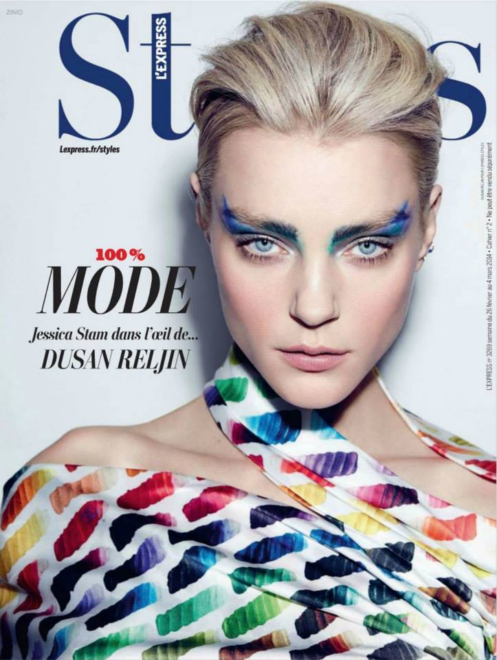 Jessica-Stam-by-Dusan-Reljin-for-LExpress-Styles-February-2014-cover