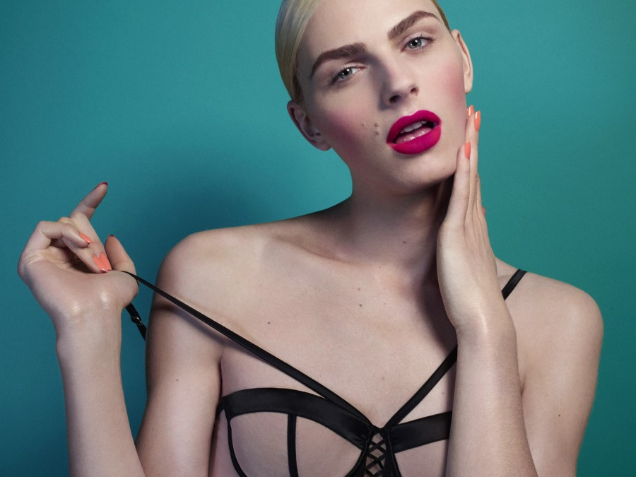 Andrej Pejic by John-Paul Pietrus for Stylist Magazine February 2014