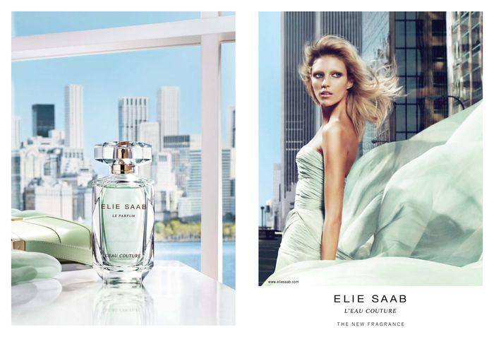 Anja Rubik for Elie Saab L'Eau Couture Fragrance Campaign by Mert Alas & Marcus Piggott