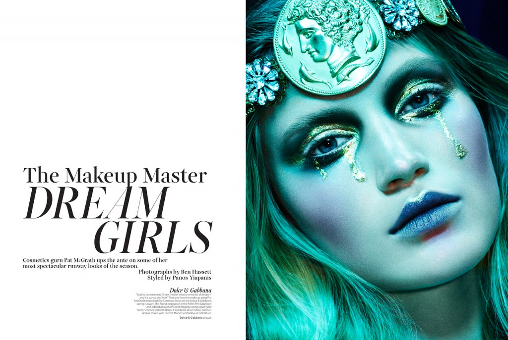 The Makeup Master Dream Girls by Ben Hassett for W Magazine May 2014 (1)
