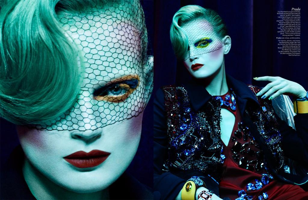 The Makeup Master Dream Girls by Ben Hassett for W Magazine May 2014 (3)