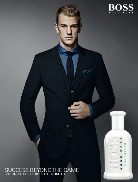 Joe Hart hugo boss boss bottled unlimited