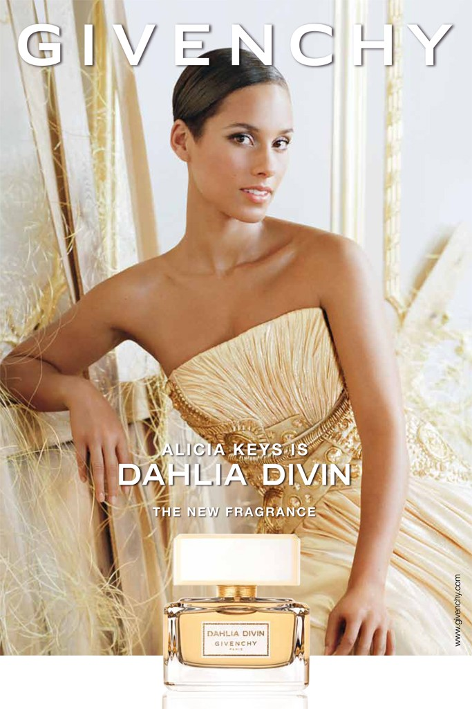 Alicia Keys for Givenchy Dahlia Divin Fragrance 01