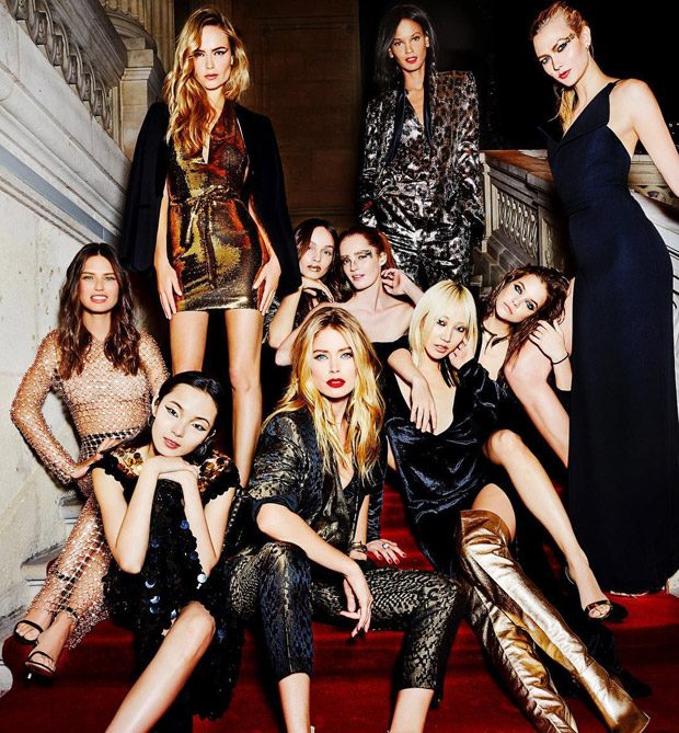 L Oreal Paris Supermodels Star In Sunday Times Style Party Issue