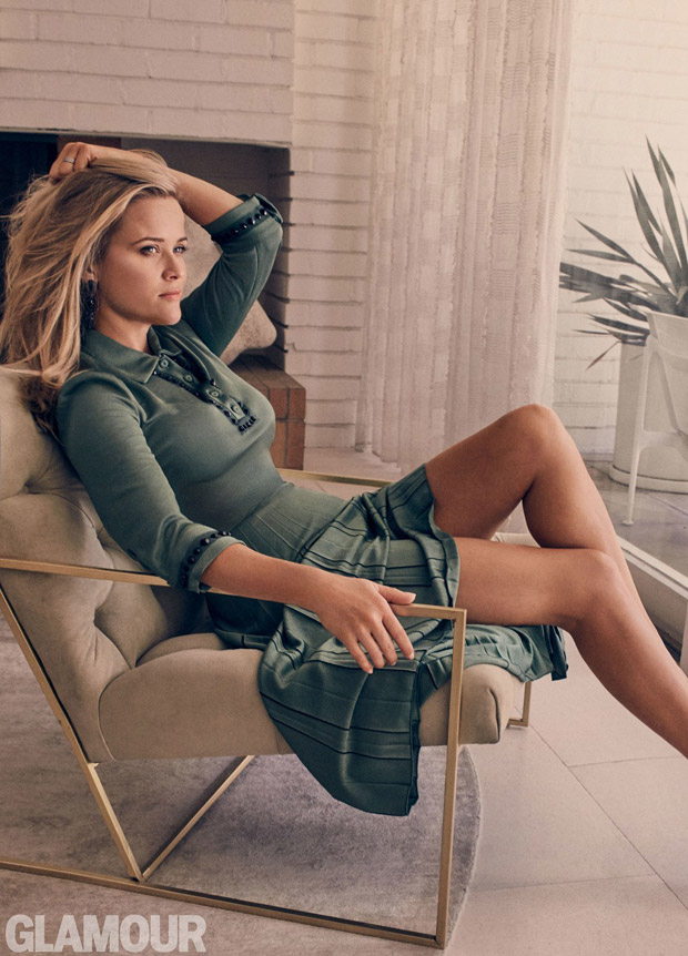 Reese Witherspoon Stars In American Glamour October 2017 -5704