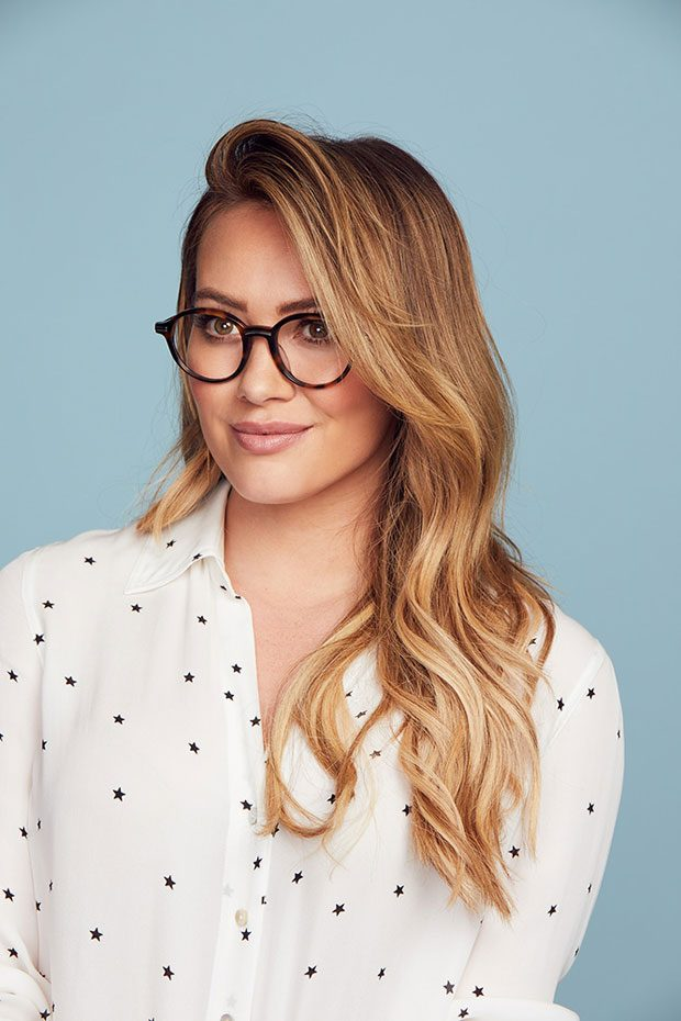 Hilary Duff Posing for Fashion Photographer Harper Smith Hilary Duff Eyeglasses