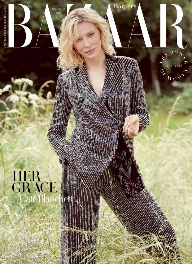 CATE BLANCHETT HARPERS UK cover