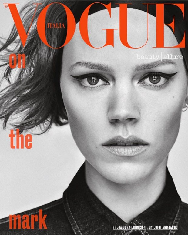 d5a446afd7d Freja Beha Erichsen Poses for Vogue Italia November 2018 Beauty Pages